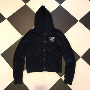 🏝1/2 Off Sale 🏝 Hollister Blue Button Up Hoodie
